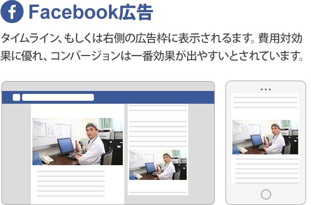 Facebook広告の画面写真